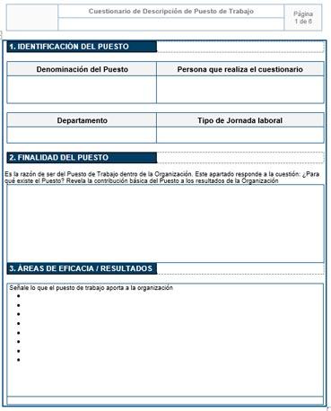 Detalle de Cuestionario de Descripción de Puestos de Trabajo
